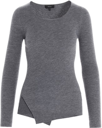 Theory Asymmetric Ribbed Sweater