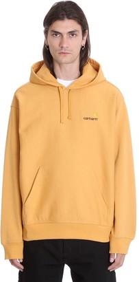 Carhartt Hooded Amrica S Sweatshirt In Yellow Cotton