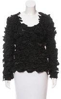 Saint Laurent Textured Silk-Accented Sweater