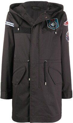 Mr & Mrs Italy Multiple-Patch Hooded Coat