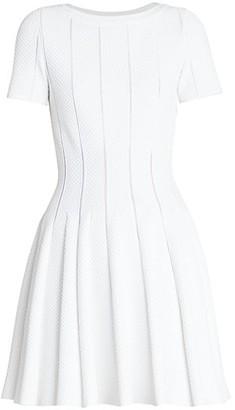 Alaia Pique Fit-&-Flare Dress