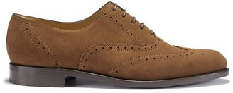 Hugs & Co Brown Suede Brogues Welted Leather Sole