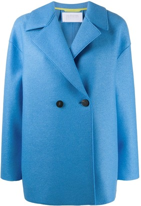 Harris Wharf London Double-Breasted Felt Coat