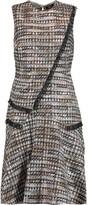 Raoul Ellery draped metallic tweed mini dress