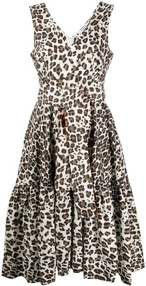 P.A.R.O.S.H. Leopard-Print Dress