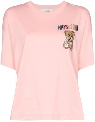 Moschino crystal teddy logo T-shirt