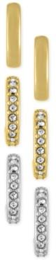 Rachel Roy 3-Pc. Set Small Hoop Earrings