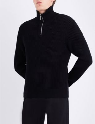 Sandro High-necked cotton-knitted jumper
