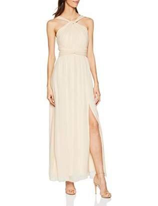 Little Mistress Women's Libby Twist Detail Maxi Dress Cocktail Plain Crew Neck Sleeveless Dress,6 (Manufacturer Size:6)