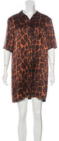 Equipment Leopard Print Silk Top