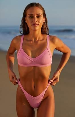 La Hearts By Pacsun by PacSun Pink Sydney Ribbed Bralette Bikini Top