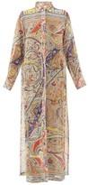 Etro Paisley-print Georgette Kaftan - Womens - Beige Multi