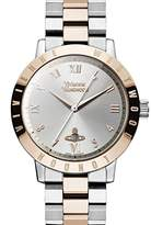 Vivienne Westwood Quartz Stainless Steel Watch, Color:Two Tone (Model: VV152RSSL)