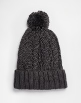 French Connection Bobble Beanie - Grey