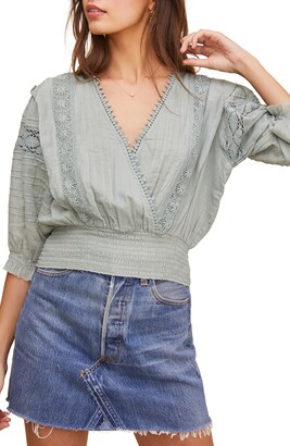 ASTR the Label Wanderer Lace Inset Crop Top