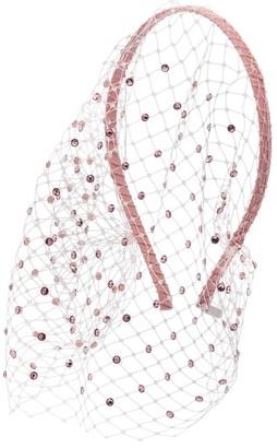 Gigi Burris Millinery Charlotte crystal veil headband