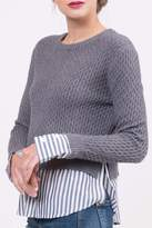 Lucy Paris Knitted Layered Sweater