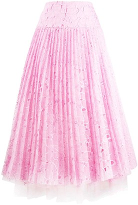 Ermanno Scervino Lace Pleated Skirt