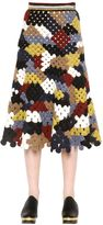 Rosetta Getty Patchwork Crochet Knit Long Skirt