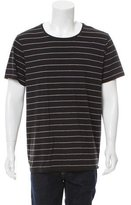 Vince Striped Scoop Neck T-Shirt