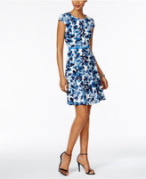 Jessica Howard Petite Floral-Print Fit & Flare Dress
