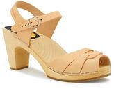 Swedish Hasbeens Wood Peep Toe Sandals