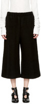 MM6 MAISON MARGIELA Black Cropped Casentino Trousers