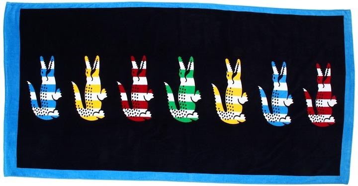 Lacoste Bayadere II Beach Towel (Black Iris) - Home