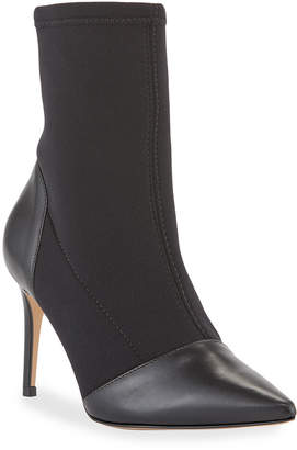 Carrano Neo Stretch Leather Stiletto Booties