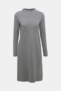 Esprit Knitted Dress in Grey Organic Cotton - S