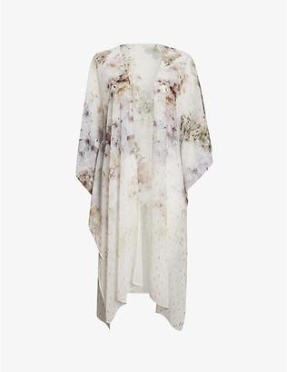Ted Baker Flores Vanilla-print woven kimono