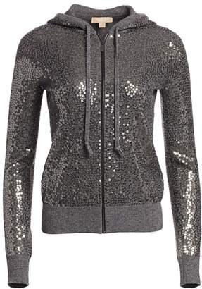 Michael Kors Sequin Embellished Cashmere Hoodie