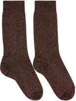 Isabel Marant Pink Lurex Mileya Socks