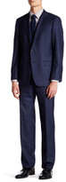 Hickey Freeman Navy Two Button Notch Lapel Wool Suit