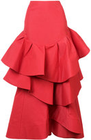 Rosie Assoulin flared layered skirt - women - Silk/Cotton/Nylon/Polyester - 0