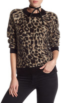 Topshop Fuzzy Leopard Sweater