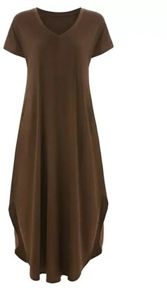 Goodnight Macaroon 'Melissa' V Neck Casual T Shirt Maxi Dress (9 Colors)
