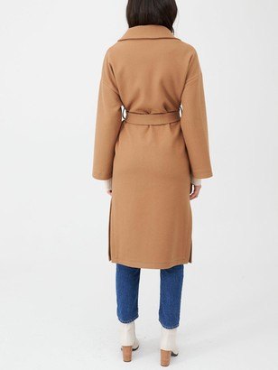 Very Belted Wrap Coat - Camel