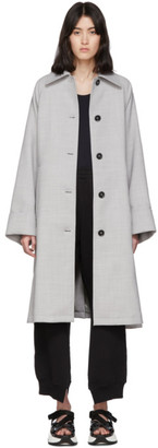 MM6 MAISON MARGIELA Grey Wool Trench Coat