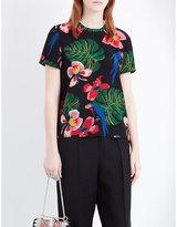 Valentino Tropical Dream-print silk top