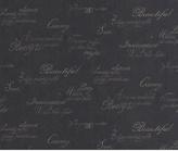 Graham & Brown Wallpaper Sample - Script Black