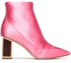 Diane von Furstenberg Cainta Satin Ankle Boots