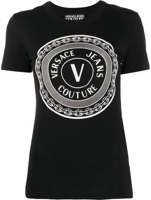 Versace Jeans Couture V-Emblem-print cotton T-shirt