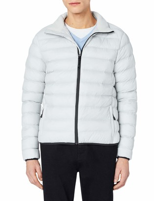 Meraki Amazon Brand Men's Puffer Jacket with High Neck