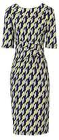 Dorothy Perkins Womens Jolie Moi Yellow Geometric Print Bodycon Dress, Yellow