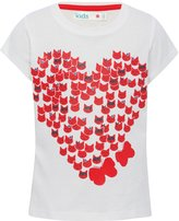 M&Co Cat heart print t-shirt