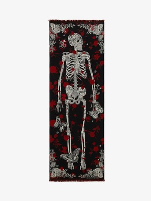 Alexander McQueen Tattoo Skeleton Scarf