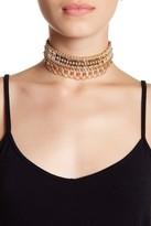 Natasha Accessories Beaded Chain Choker