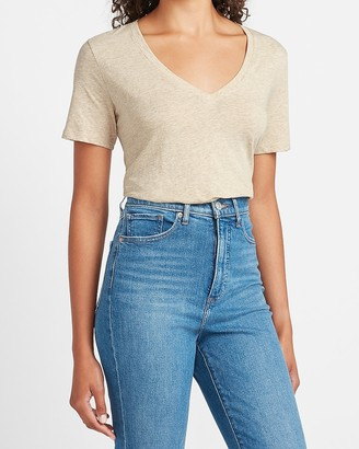 Express Skimming V-Neck Tee