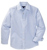 Tommy Hilfiger Double Twill Stripe Shirt (Big Boys)